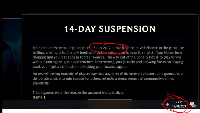 LMHT: Một game thủ bị ban 14 ngày từ năm 2017 nhưng lệnh cấm đó lại kéo dài tới tận năm 2021 - Ảnh 3.