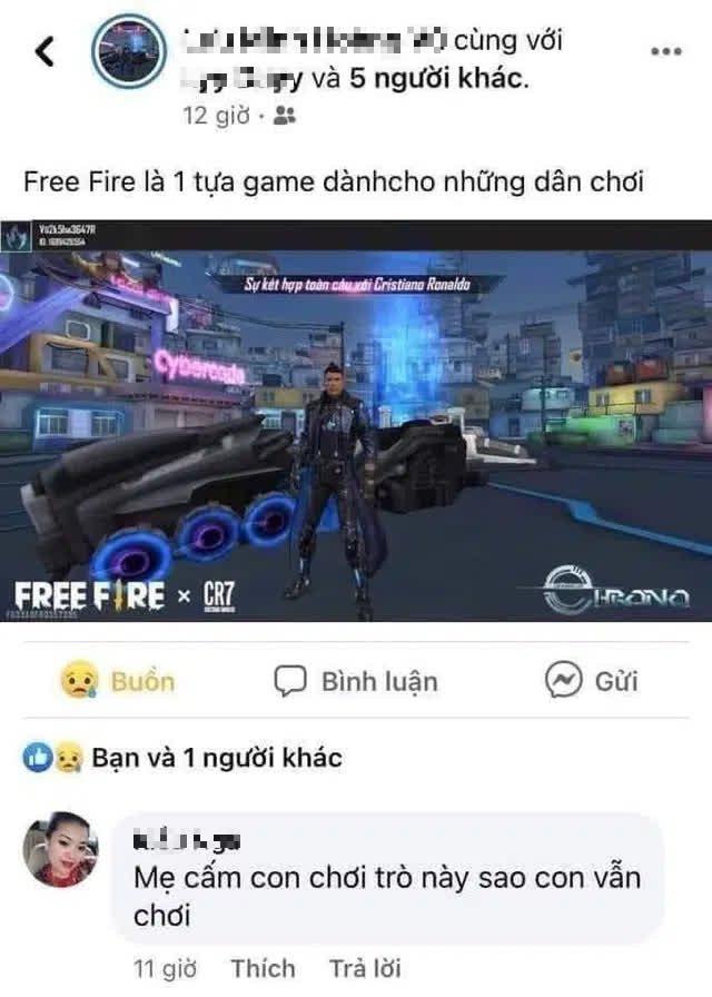 """Khoe Free Fire là game dành cho dân chơi, game thủ bị mẹ tóm gọn, bình luận một câu """"chí mạng"""" ngay dưới ảnh - Ảnh 3."""