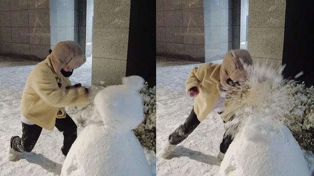 Nổi hứng đấm vỡ mặt người tuyết, nữ streamer xinh đẹp bất ngờ nhận muôn vàn gạch đá, sợ hãi phải khóa luôn bình luận - Ảnh 3.