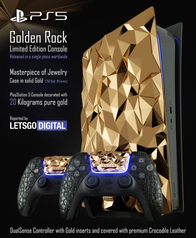 PlayStation 5 bản đặc biệt phủ 20kg vàng, bọc da cá sấu... giá chỉ tầm 22 tỷ đồng - Ảnh 1.