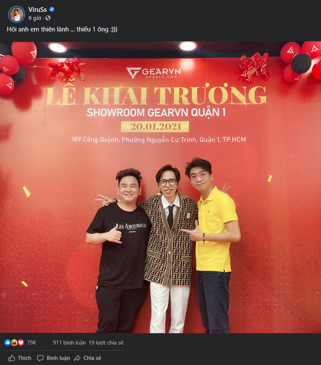 The close friends of GearVN director - ViruSs came to congratulate the showroom extremely, but fans realized the lack of president Eel Thanh Do - Photo 2.