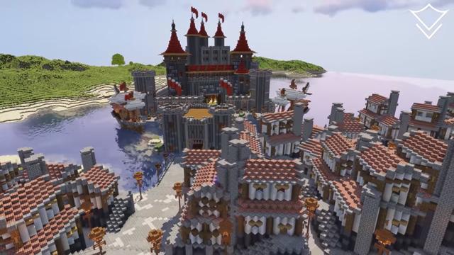 Cận cảnh quá trình xây dựng vương quốc trung cổ trong Minecraft - Ảnh 2.