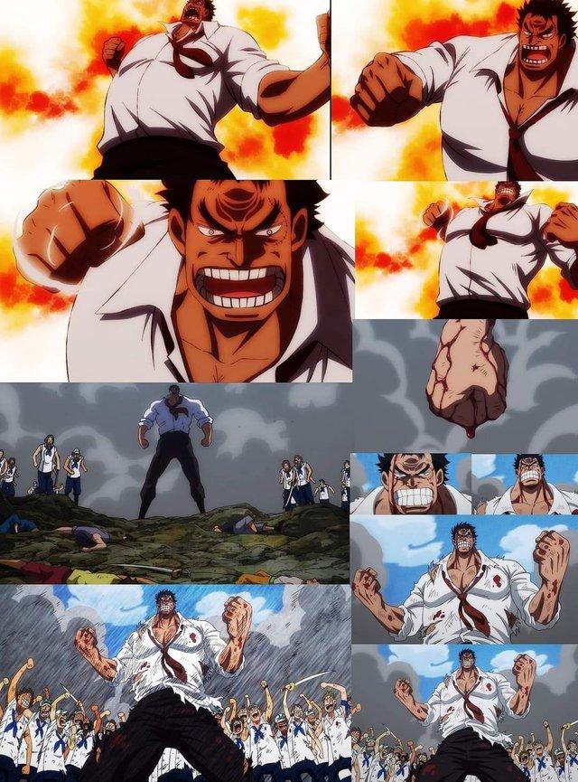 One Piece: Ngắm loạt ảnh hồi trẻ của Anh Hùng Hải Quân Grap lại thấy có nét trẩu giống Luffy - Ảnh 1.