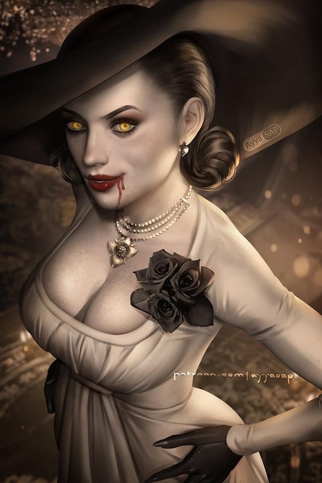 Cộng đồng game thủ phát sốt vì Lady Dimitrescu, ác nhân gì mà lại nóng bỏng đến thế? - Ảnh 9.