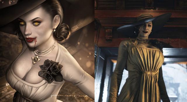 Cộng đồng game thủ phát sốt vì Lady Dimitrescu, ác nhân gì mà lại nóng bỏng đến thế? - Ảnh 1.