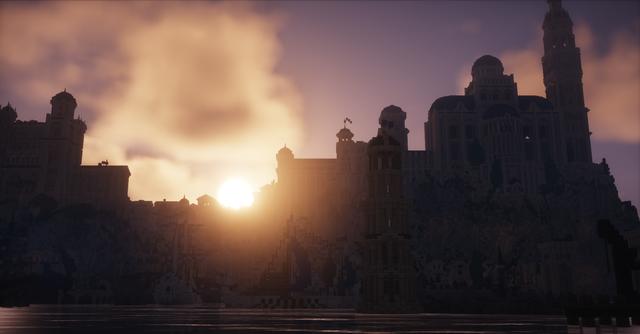 Bỏ 10 năm xây cả thế giới Chúa Nhẫn trong Minecraft, dùng Ray Tracing càng thêm đẹp mê hồn - Ảnh 7.