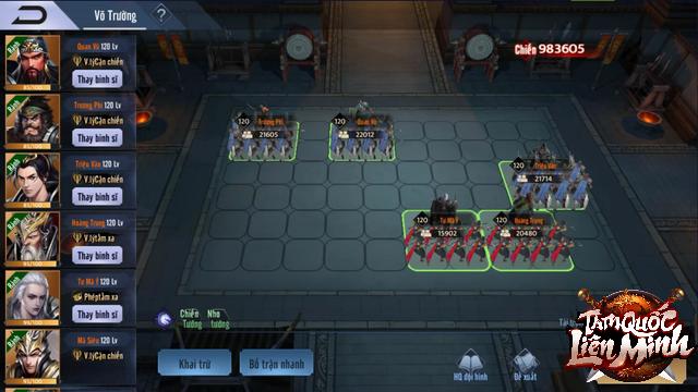 Bom tấn chiến thuật 3Q Tam Quốc Liên Minh cho hẳn 60 ô xếp trận tùy ý, anh em thích chơi kiểu nào cũng chiều được - Ảnh 3.