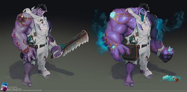 LMHT - Riot Games hé lộ những hình ảnh mới nhất về Dr. Mundo phiên bản làm lại: Cái lưỡi trứ danh đã bay màu - Ảnh 1.