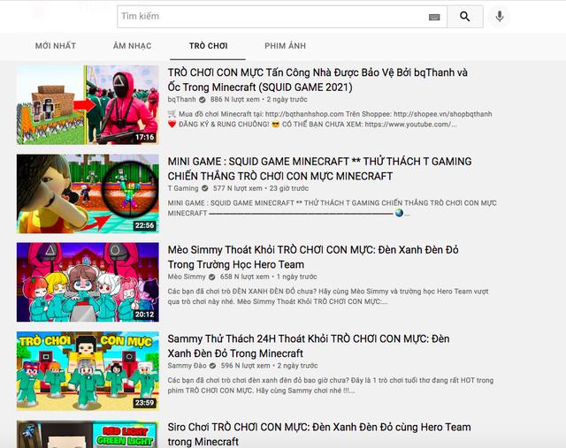 """Game thủ/ streamer khai thác triệt để """"Trò chơi con mực"""" làm nội dung phát sóng, top trending ngập tràn - Ảnh 4."""