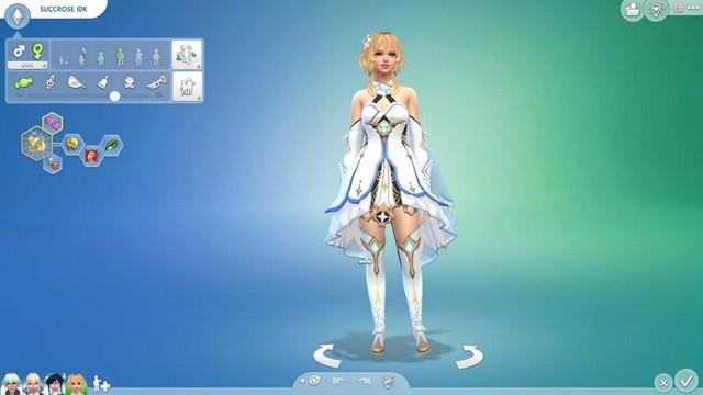 Dàn nữ nhân vật Genshin Impact bất ngờ xuất hiện trong The Sims 4 - Ảnh 2.