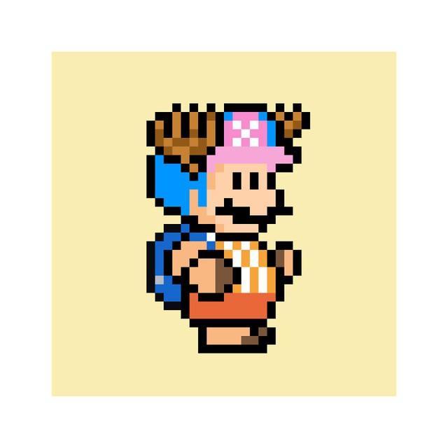 Ngỡ ngàng khi thấy loạt nhân vật One Piece và anime được vẽ lại theo phong cách pixel art - Ảnh 15.
