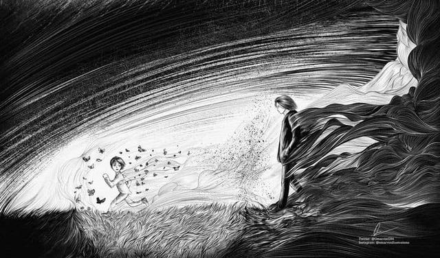 Mãn nhãn ngắm loạt ảnh Attack on Titan đen trắng đầy ma mị, đơn giản mà xem vẫn cực kỳ cuốn - Ảnh 2.