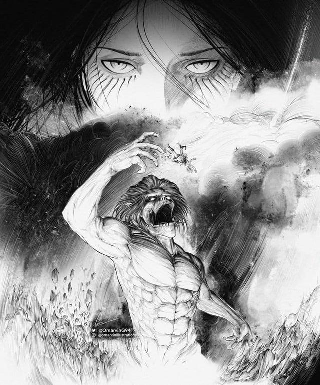 Mãn nhãn ngắm loạt ảnh Attack on Titan đen trắng đầy ma mị, đơn giản mà xem vẫn cực kỳ cuốn - Ảnh 8.