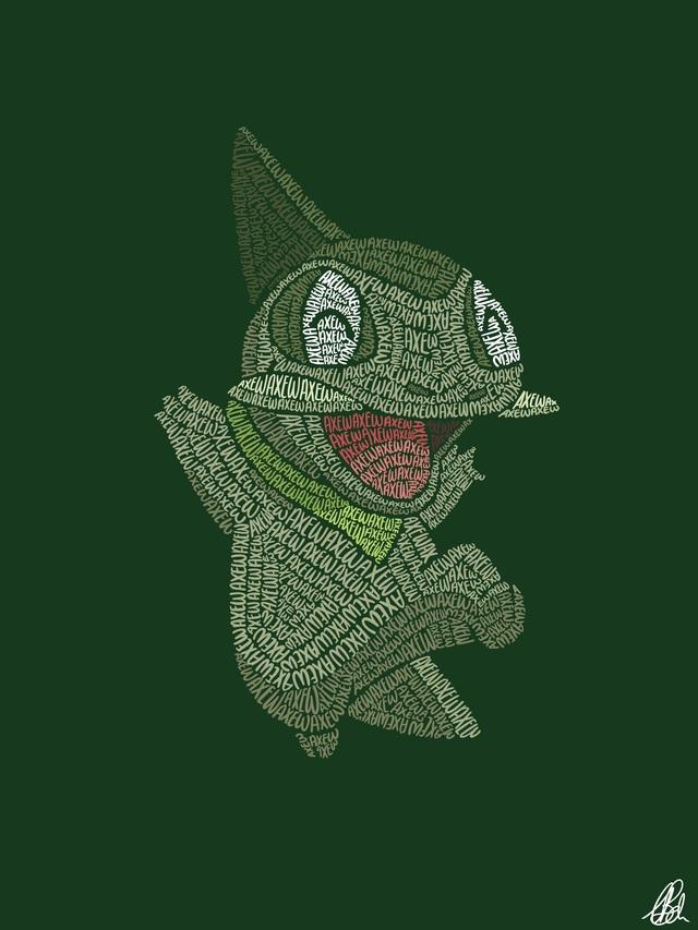 Mãn nhãn với loạt fanart Pokémon vô cùng sáng tạo, từ những con chữ đã ra các sinh vật hoàn chỉnh - Ảnh 11.