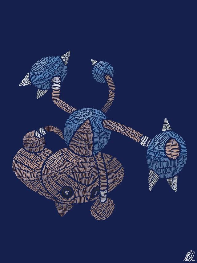 Mãn nhãn với loạt fanart Pokémon vô cùng sáng tạo, từ những con chữ đã ra các sinh vật hoàn chỉnh - Ảnh 15.