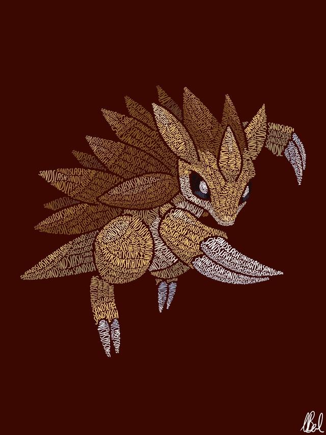 Mãn nhãn với loạt fanart Pokémon vô cùng sáng tạo, từ những con chữ đã ra các sinh vật hoàn chỉnh - Ảnh 16.
