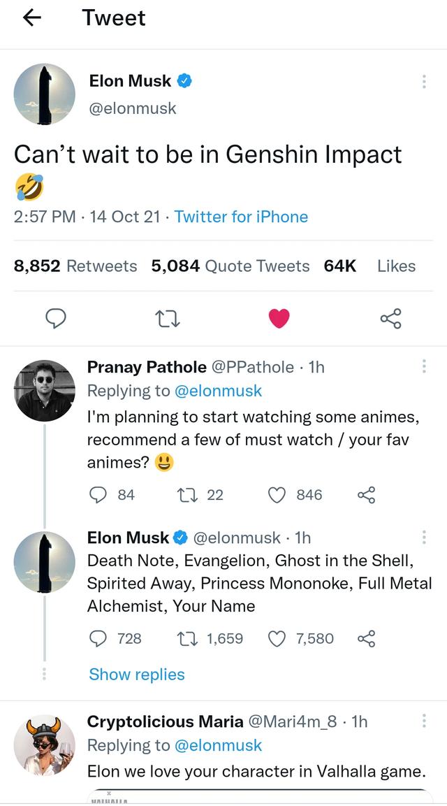 Elon Musk ngỏ ý muốn làm người chơi hệ tỷ phú của Genshin Impact Base64-16342060946682121343432
