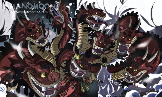 One Piece: Bị chém bay đầu 2 lần không chết, trái ác quỷ Zoan thần thoại của Orochi bá cỡ nào? - Ảnh 2.