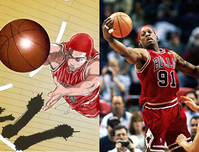 Slam Dunk: Sakuragi Hanamichi và 6 nhân vật được lấy cảm hứng từ những cầu thủ nổi tiếng ngoài đời thật - Ảnh 2.