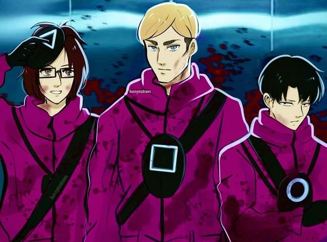 Fan anime ngẩn người khi thấy dàn nhân vật Attack on Titan bị Squid Game nhập - Ảnh 7.