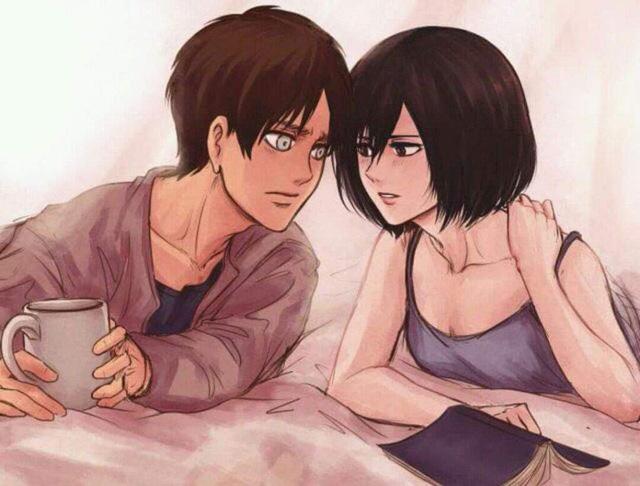 Mặc kệ tác giả nhẫn tâm, fan Attack on Titan tự vẽ ra một tương lai màu hồng nơi Eren và Mikasa bên nhau hạnh phúc - Ảnh 3.