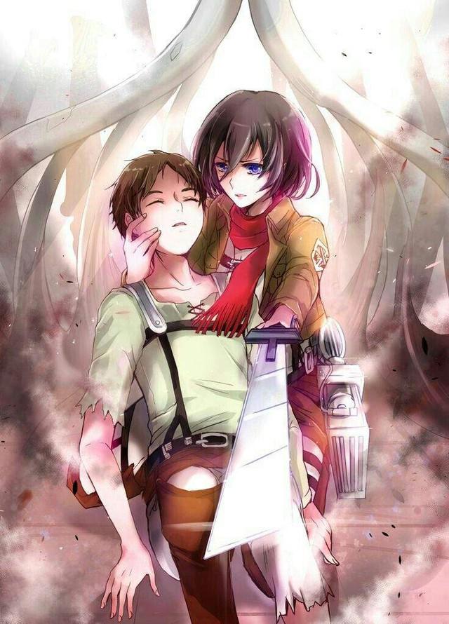Mặc kệ tác giả nhẫn tâm, fan Attack on Titan tự vẽ ra một tương lai màu hồng nơi Eren và Mikasa bên nhau hạnh phúc - Ảnh 9.