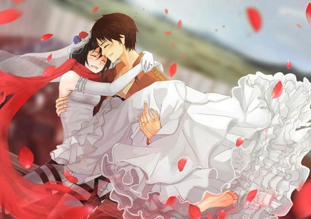 Mặc kệ tác giả nhẫn tâm, fan Attack on Titan tự vẽ ra một tương lai màu hồng nơi Eren và Mikasa bên nhau hạnh phúc - Ảnh 16.