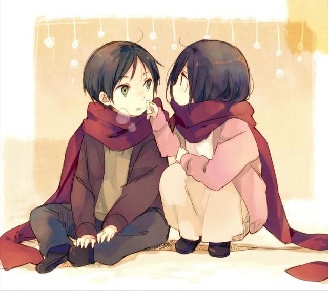 Mặc kệ tác giả nhẫn tâm, fan Attack on Titan tự vẽ ra một tương lai màu hồng nơi Eren và Mikasa bên nhau hạnh phúc - Ảnh 15.