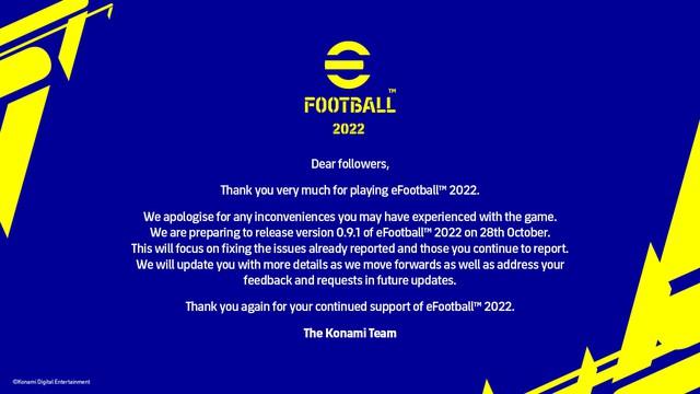 Konami thông báo sẽ sửa thảm họa eFootball nhưng game thủ chỉ muốn xóa nó và thay bằng PES 2022 - Ảnh 2.