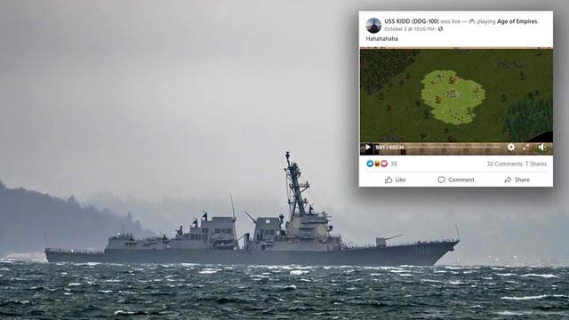 Fanpage của Hải quân Mỹ bị hack để livestream Đế Chế, lập tức bị dân mạng Việt gạ kèo: Chấp Yamato 2 dân, chơi không? - Ảnh 1.