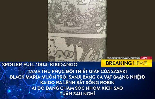 Spoil full One Piece chap 1004: Tama thu phục thành công hàng loạt Gifters, Black Maria muốn bắt sống Robin - Ảnh 1.