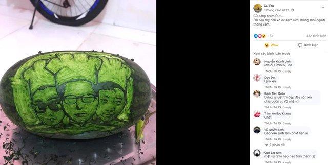 Cter trổ tài tạo hình, khắc gọt quả dưa hấu vô cùng đẹp mắt để gửi tặng Dũng CT và Team Đụt ăn Tết - Ảnh 3.