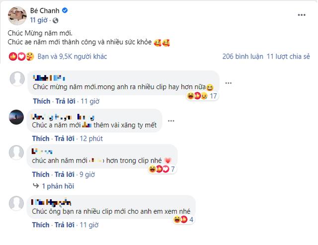 Bé Chanh gửi lời chúc mừng năm mới game thủ, nhưng đọc bình luận toàn nhắc đến chuyện riêng tư nhạy cảm - Ảnh 2.