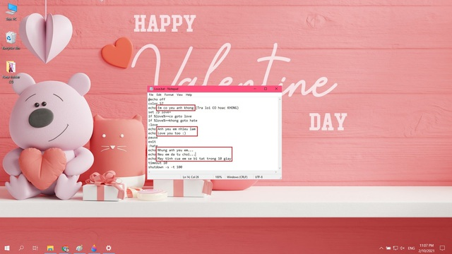 Mẹo tỏ tình crush đậm chất công nghệ bằng Notepad nhân dịp Valentine và cách xử lý khi bị từ chối - Ảnh 7.
