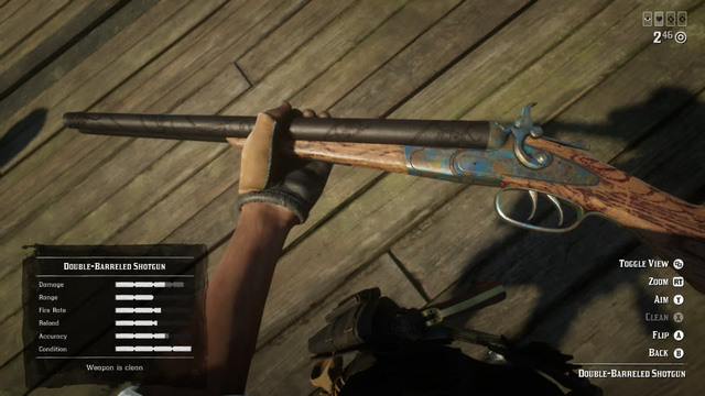 The famous weapon samples in the game: World 4 - Shotgun 2 barrels - Photo 1.