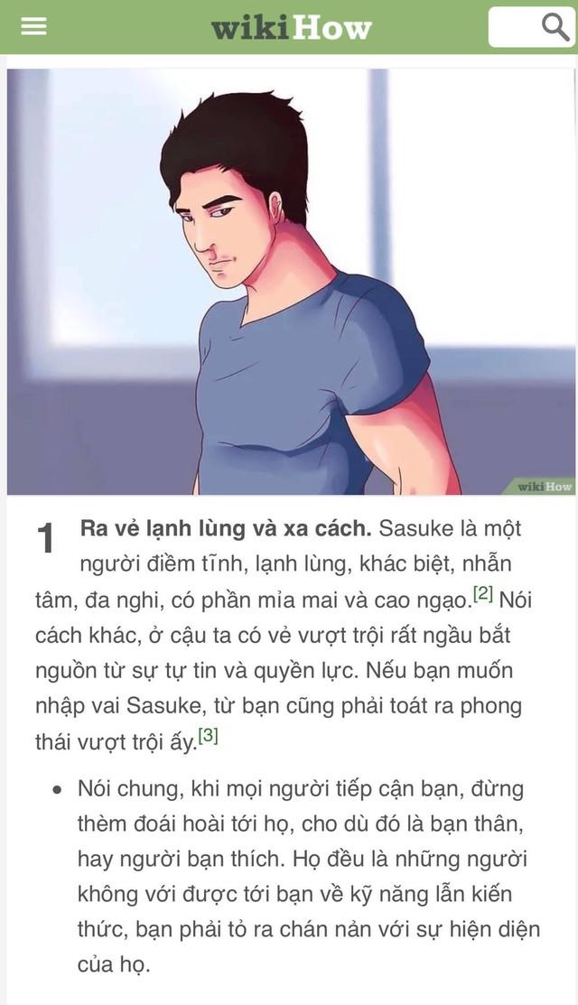 Bạn là wibu nhưng đã chán nản với bản thân? Hãy để WikiHow hướng dẫn bạn cách trở thành Sasuke - Ảnh 2.