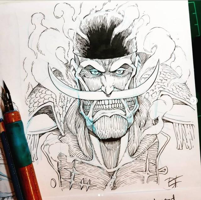 Mãn nhãn trước những hình ảnh siêu ngầu khi các nhân vật One Piece biến thành các Titan trong Attack on Titan - Ảnh 8.