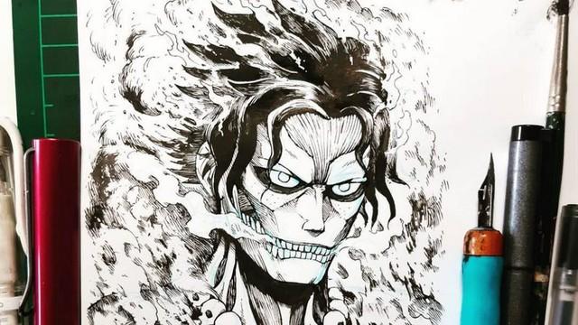 Mãn nhãn trước những hình ảnh siêu ngầu khi các nhân vật One Piece biến thành các Titan trong Attack on Titan - Ảnh 9.