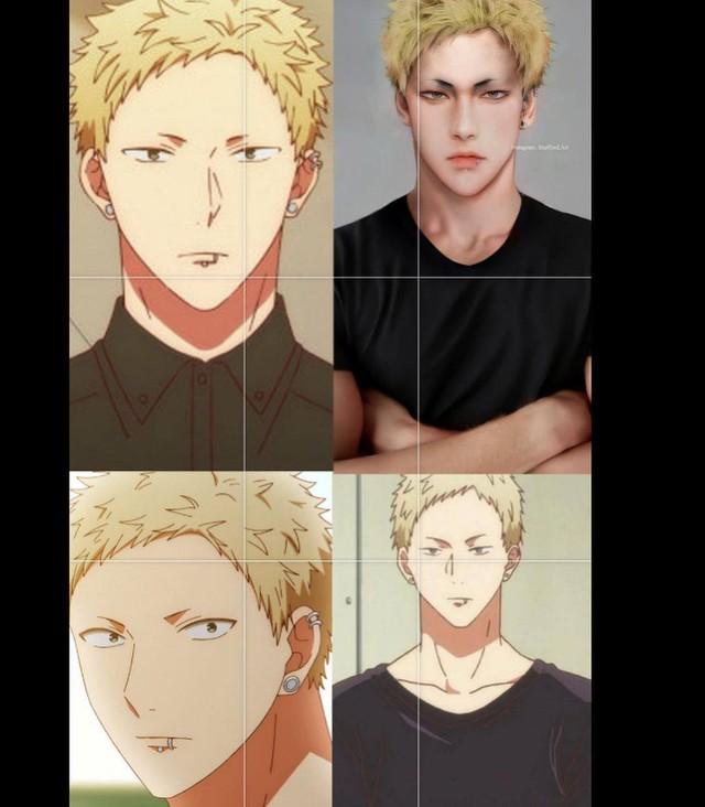 Các nhân vật anime/manga khi được vẽ lại theo phong cách tả thực Photo-1-1613918971472216943606
