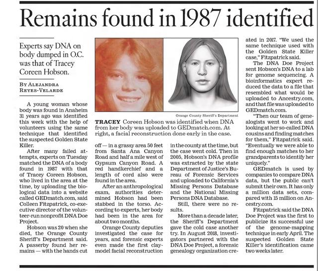 Vụ án không lời giải của Dorothy Jane Scott Thelosangelestimesfrijan182019-16142195321062147345379