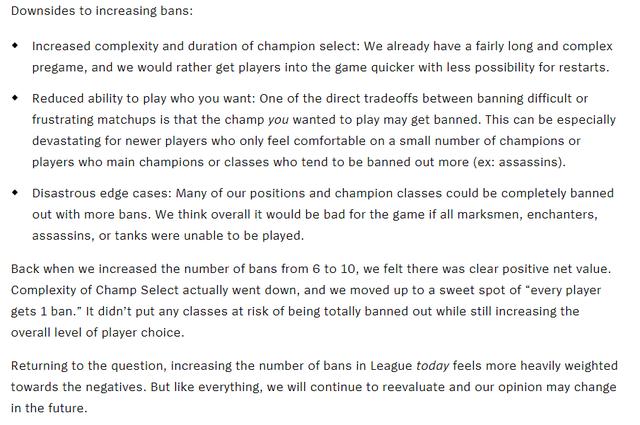 LMHT: Suýt chút nữa Riot Games đã nâng số lượt cấm ở chế độ xếp hạng lên con số 20 - Ảnh 2.
