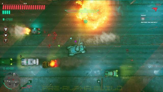 Xuất hiện tựa game kết hợp giữa Cyberpunk 2077 và GTA 2, cho phép game thủ thoải mái phá làng phá xóm - Ảnh 5.