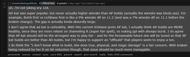 LMHT: Bị cộng đồng ném đá nhưng Riot Games vẫn cho rằng Katarina vật lý đang cực kỳ cân bằng - Ảnh 4.