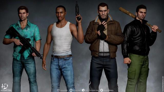 Bất ngờ với sự lột xác của các nhân vật huyền thoại trong GTA qua lớp áo đồ họa tiên tiến - Ảnh 7.