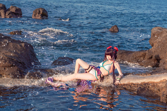 Mơ màng ngắm nàng Servant trong Fate/Grand Order diện trang phục mát mẻ tạo dáng bên bờ biển - Ảnh 11.