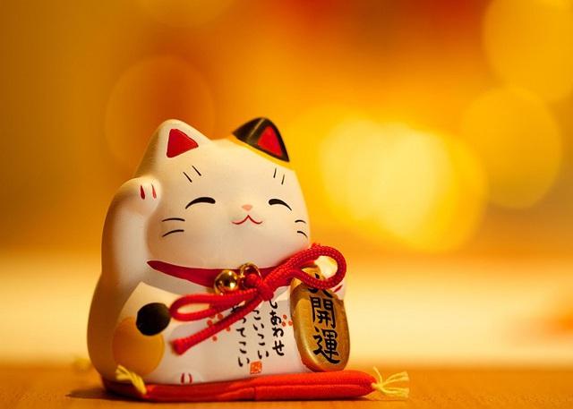 Nguồn gốc của mèo may mắn Maneki Neko - Ảnh 3.