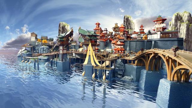 Choáng ngợp với mô hình thành phố Genshin Impact, mất 1000 giờ mới lắp ráp xong - Ảnh 1.
