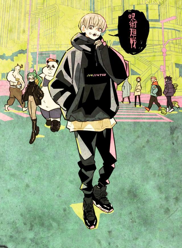 Các nguyền sư trong Jujutsu Kaisen lên đồ đón tết cực bảnh, fan học lỏm ngay còn đẹp trai du xuân - Ảnh 4.