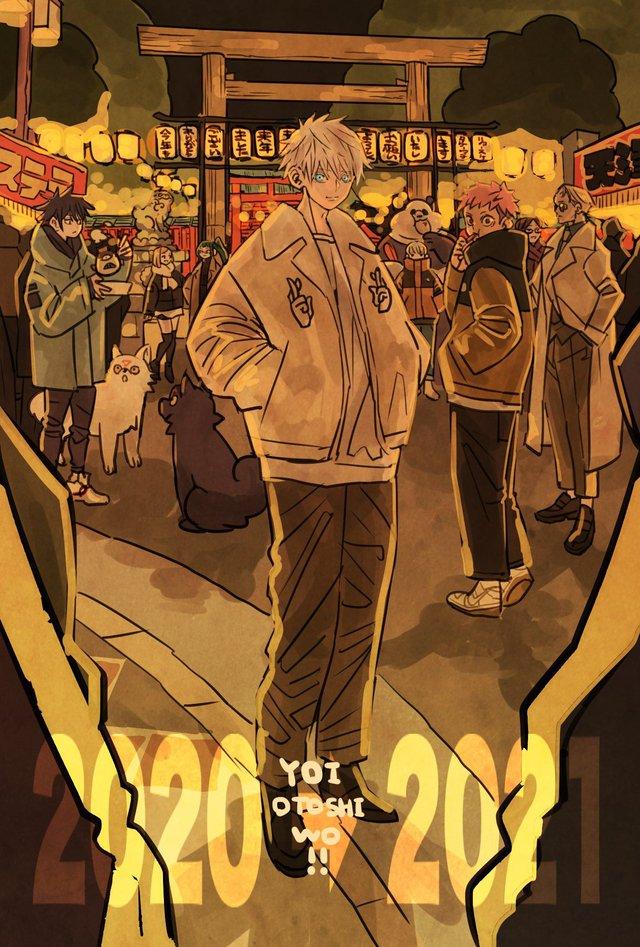 Các nguyền sư trong Jujutsu Kaisen lên đồ đón tết cực bảnh, fan học lỏm ngay còn đẹp trai du xuân - Ảnh 8.