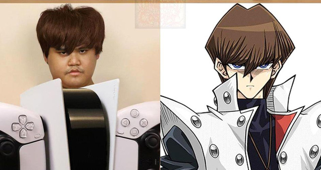 Saint Cosplay turned PS5 into the character Seto Kaiba in Yu-Gi-Oh - Photo 1.